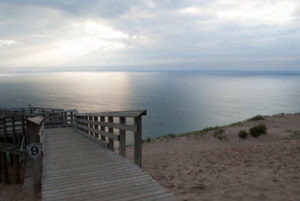 Lake Michigan at Pierce Stocking Overlook