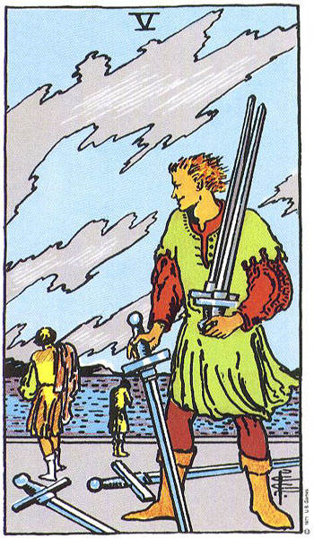 Rider-Waite 5 of swords