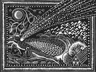 woodcut comet image, Comets and Uppity Women